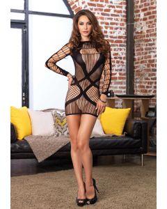 Multi net mini dress Black One size
