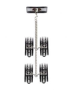 Black Translucent Neck/Wrist and Leg Restraint by Bad Romance