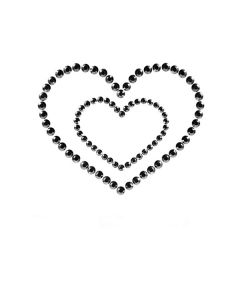 Bijoux de seins autocollant Mimi Heart  Black