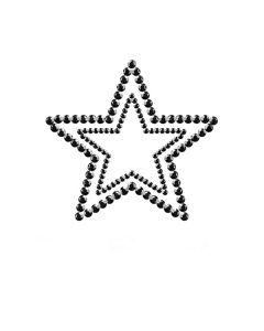 Bijoux de seins autocollant Mimi star noir